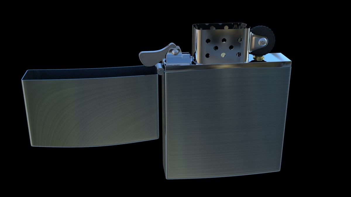 zippo lighter 3d model