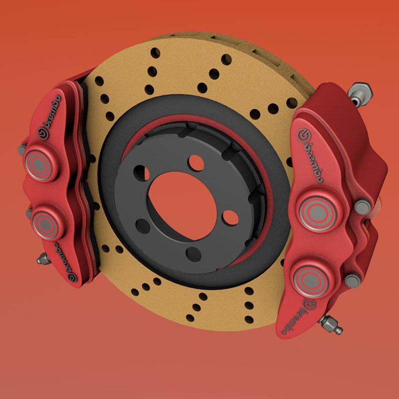 3d realistic brake disc model