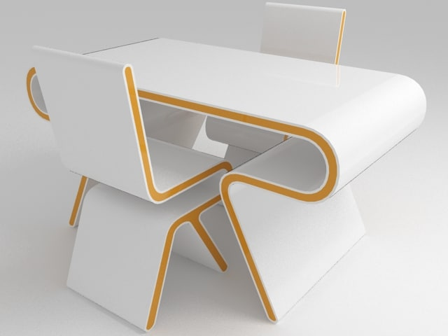 3d futuristic furniture: ultramodern desk chair