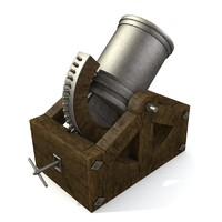 3d da vinci mortar model