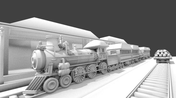 train yard non 3d obj