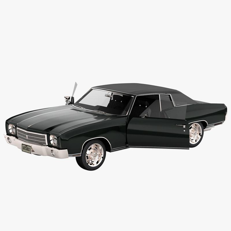 3d chevrolet monte carlo 1970 model