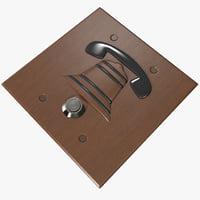 door bell 2 3d 3ds