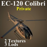 eurocopter pvt helicopter 3d model