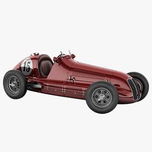 maserati 4cl vintage racing car 3d max