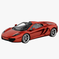 3d model of mclaren mp4-12c convertible 2013
