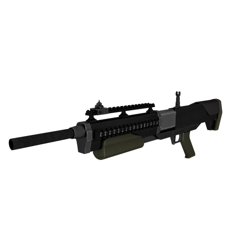 3d model revolving shotgun
