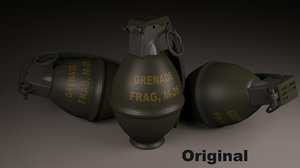 grenade m-26 3d max