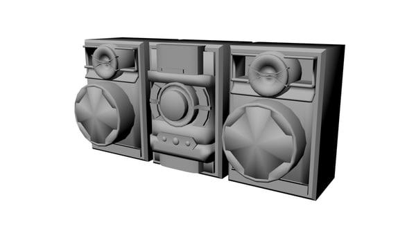free fbx model stereo