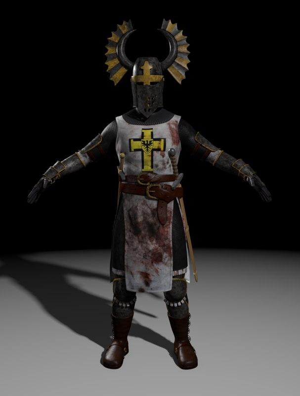 teutonic knight 3d model