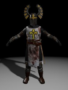 teutonic knight 3d model