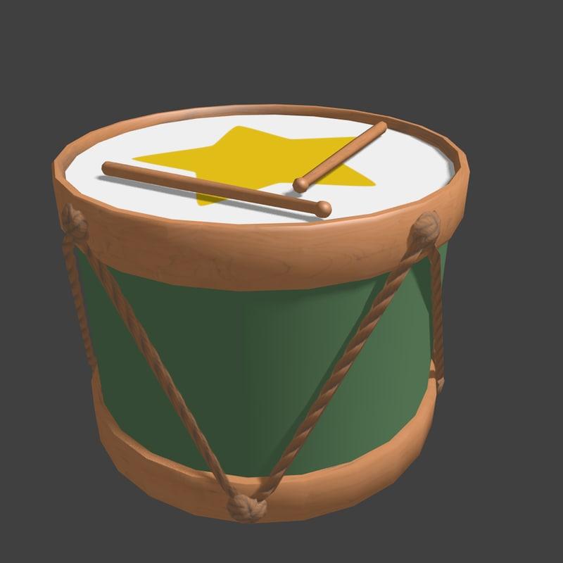 toy drum 3ds