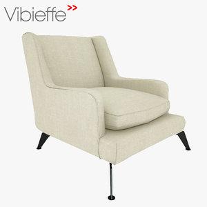 3d model vibieffe poltrona