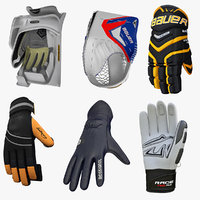 3d model winter sports gloves