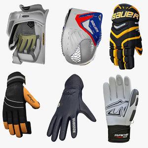 3d model winter sports gloves