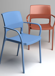 3d model ara 315 chair