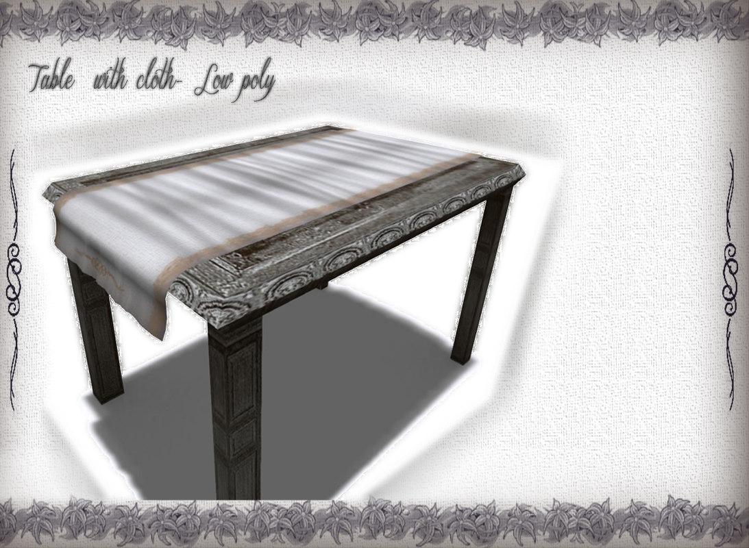 wooden table obj