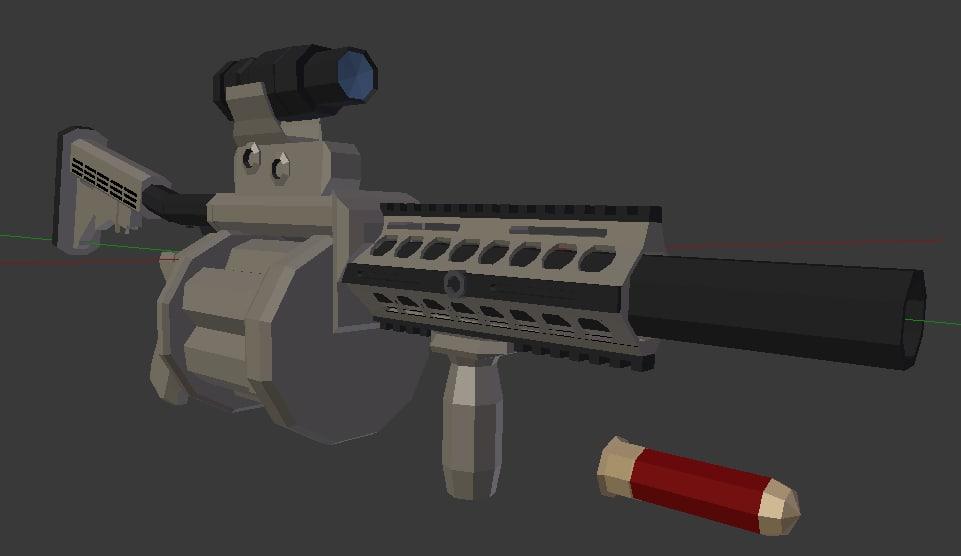 modern grenade launcher blend