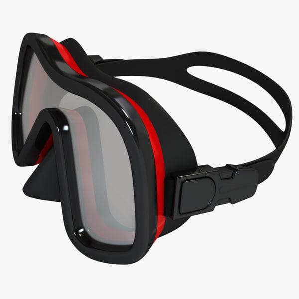 scuba mask 3ds