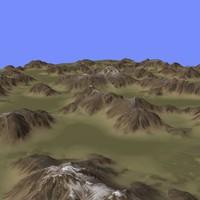 3d model of heightmap