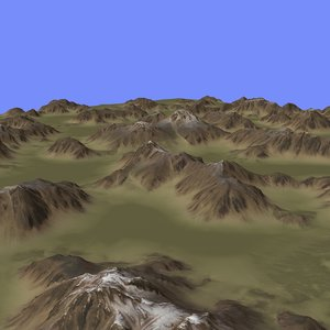 3d model of heightmap