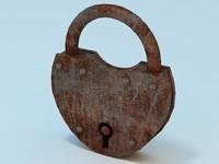old lock 3d model