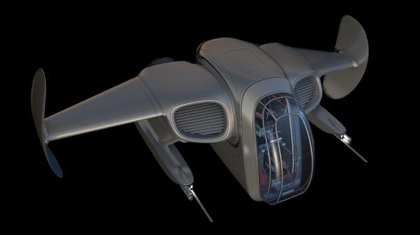 fighter ship 3d model
