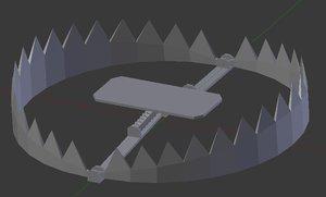 bear claw trap 3d model