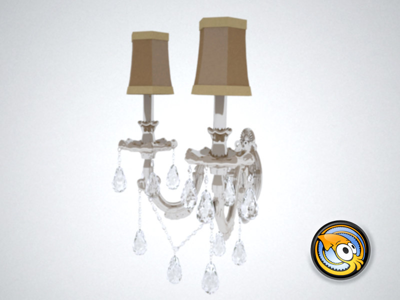 free wall lamp light 3d model