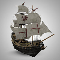 Galleon Sailing Pirate Ship Black Pearl