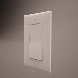 3d single switch model