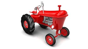 tractor vintage red farming 3ds