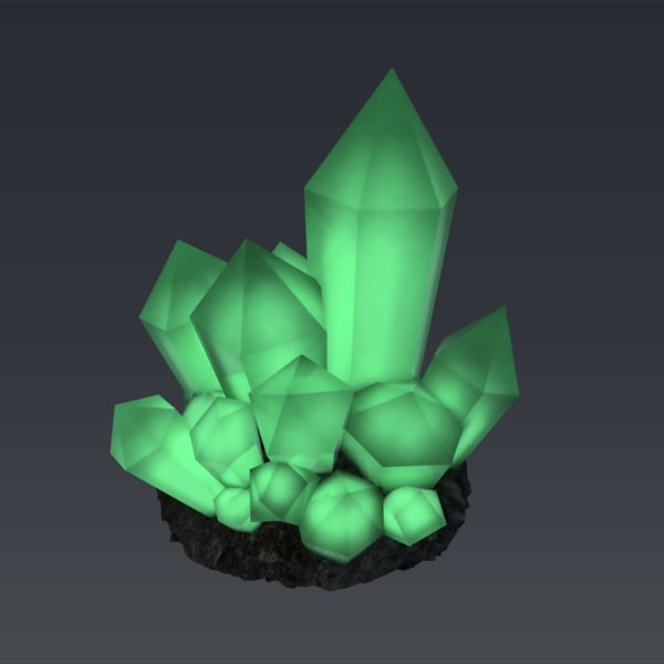 3dsmax glowing crystal