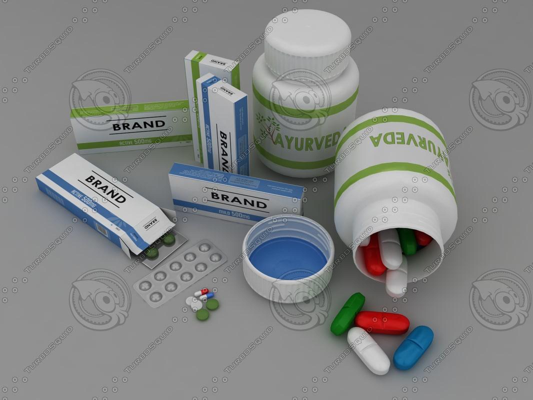 pills capsules nasal 3d 3ds