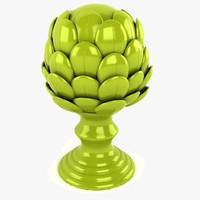 3d porcelain artichoke