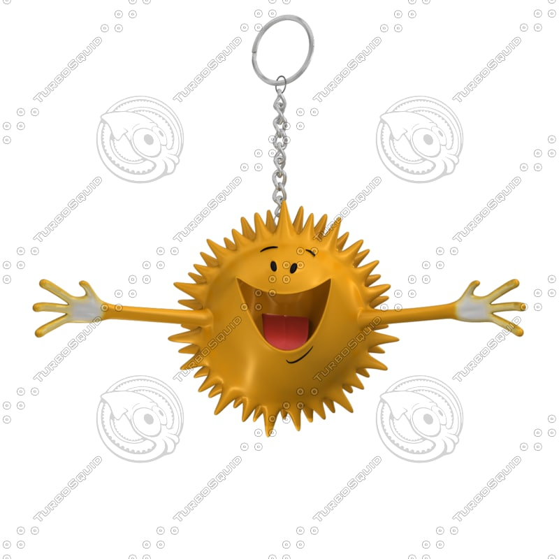 3d happy star smiley
