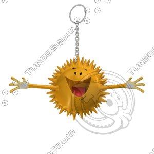 3d happy star smiley