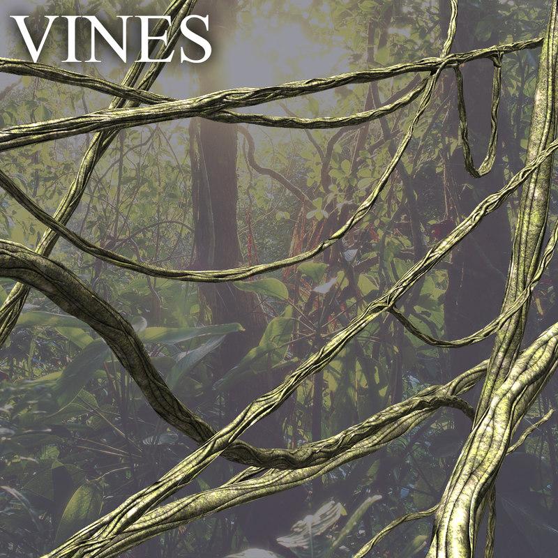 vines jungle 3d obj