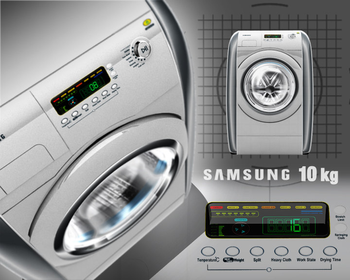 washing machine 10 3d model