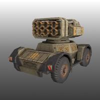 3d rts tank model