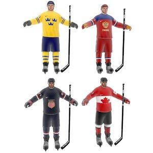 hockey player 3d max