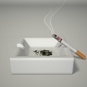 3d cigarette s ashes model