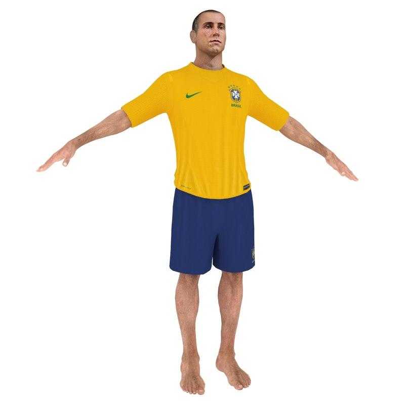 beach soccer player 3d max