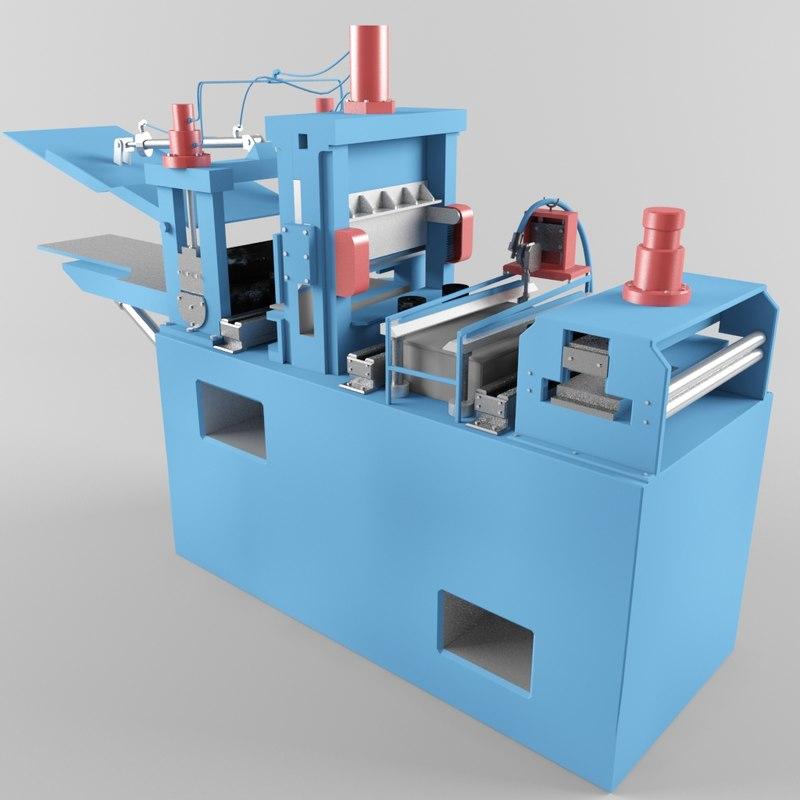 3d equipment plant rolling model