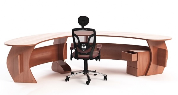 curved office desk chair max