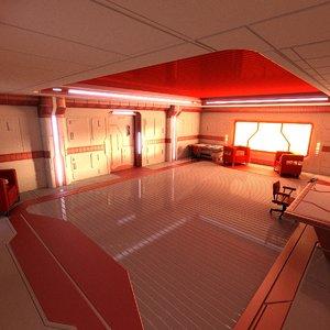 science fiction interior scene 3ds