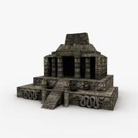 3d aztec temple model