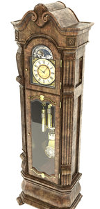 3d old standing clock