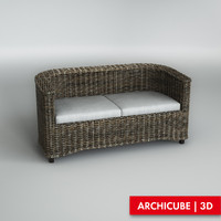 Sofa wicker