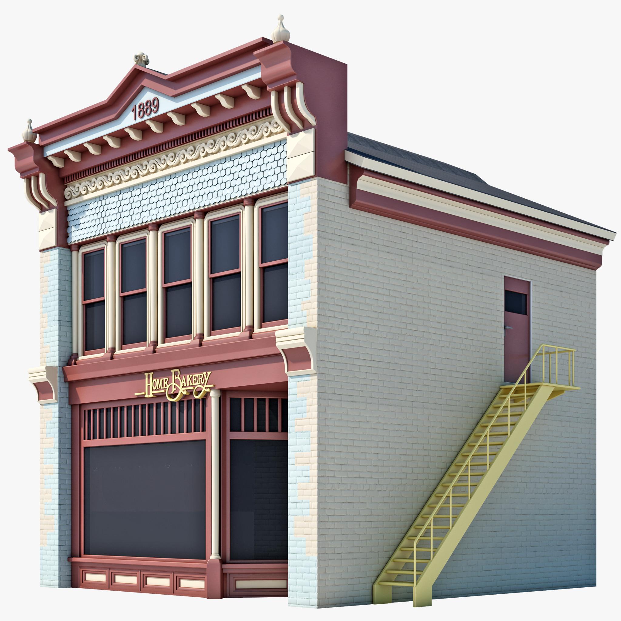 c4d bakery house
